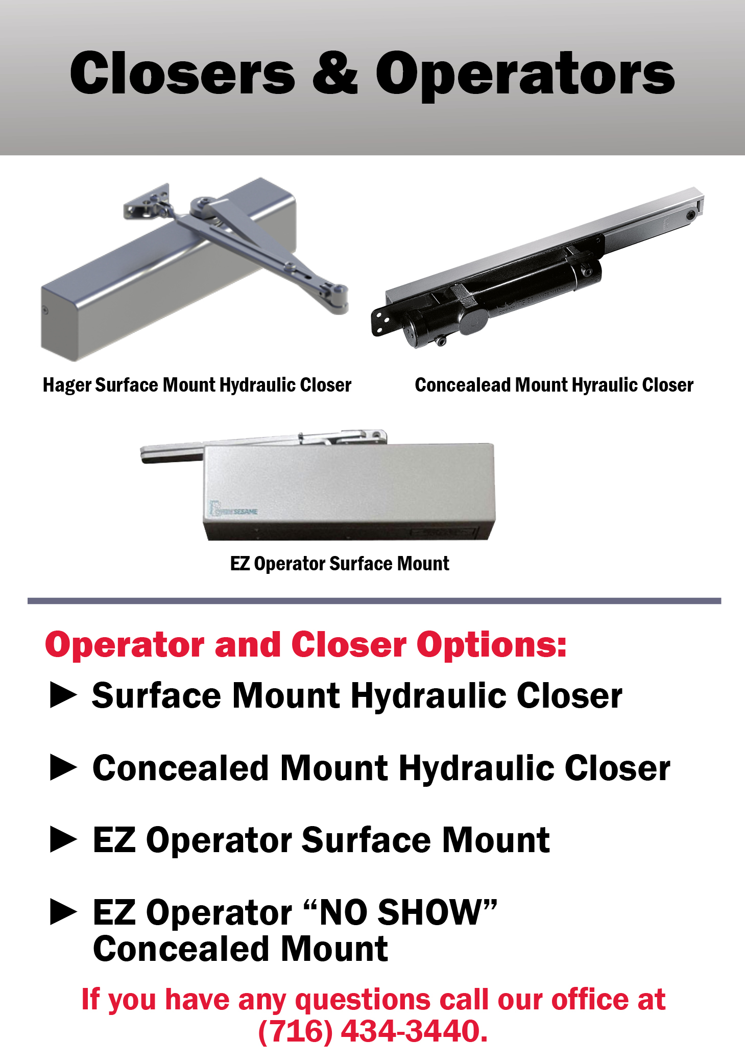EZ Entry Doors Closers and Operators